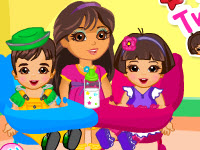 Dora Twins Babysitter