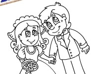 Wedding Couple Coloring